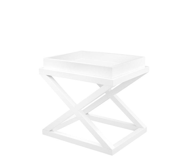 Side table white 'Mcarthur' 61 x 48 x 57cm (h)