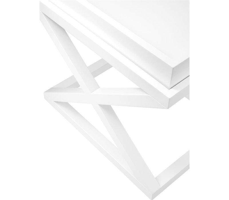 Bijzettafel wit 'Mcarthur' 61 x 48 x 57cm (h)