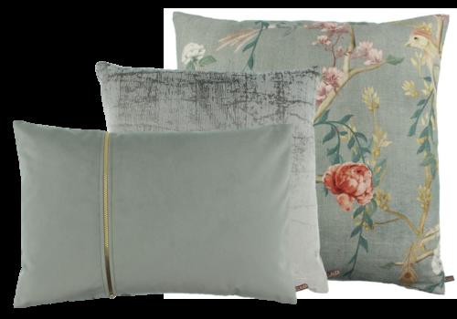 CLAUDI Chique Cushion combination Celadon/Mint: Paradise, Izett & Rosana