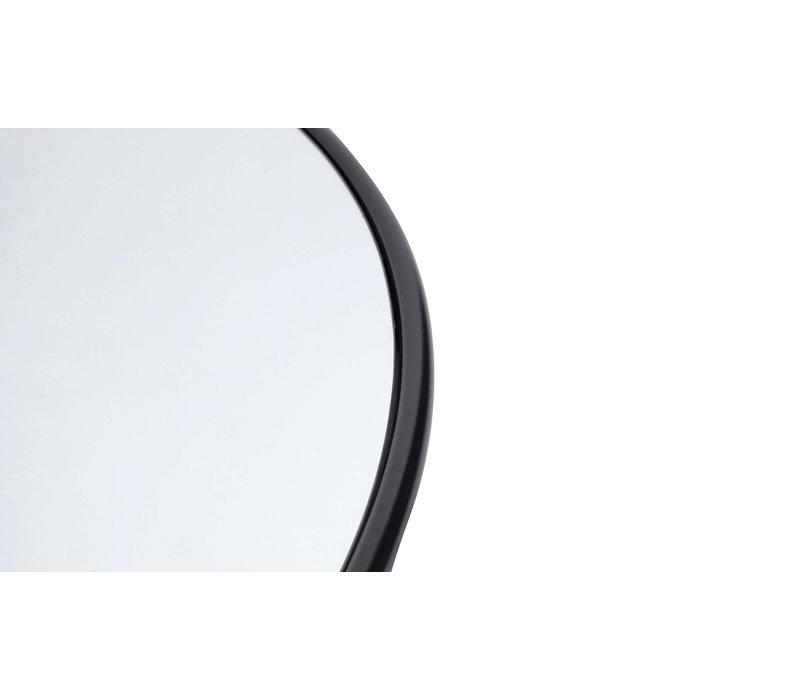 Wall mirror round Copenhagen S,  iron frame