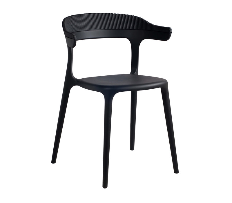 Dining chair Luna Stripe,  stackable