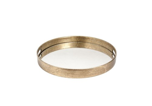 Dome Deco Gold tray round - S