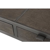 Desk Scavullo, Charcoal brown oak veneer