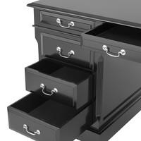 Desk British, nikkel hardware