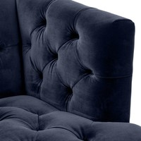 Sofa Castelle Savona midnight blue velvet