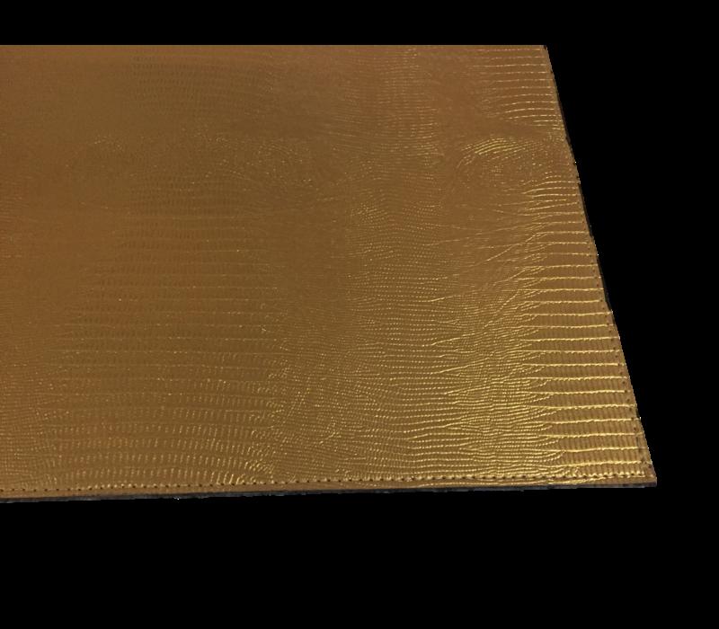 Placemat 'Lizard' in de kleur Gold - Set van 2 stuks