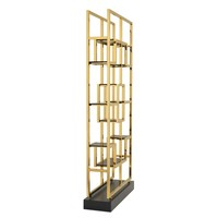 Cabinet 'Lagonda' is 240 cm high and made of stainless steel with a 'Gold finish'