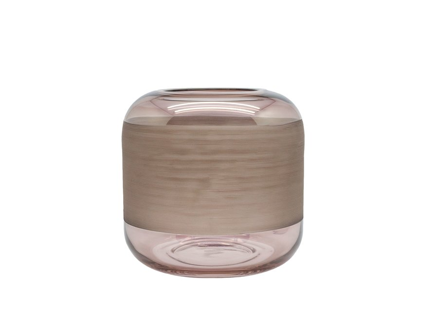 Brede glazen vaas 'Sprayed' -M  H21 x D21 cm