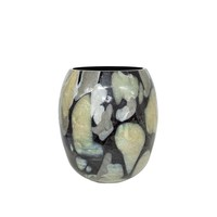 Vase glass 'Stained' - H31 x D25 cm