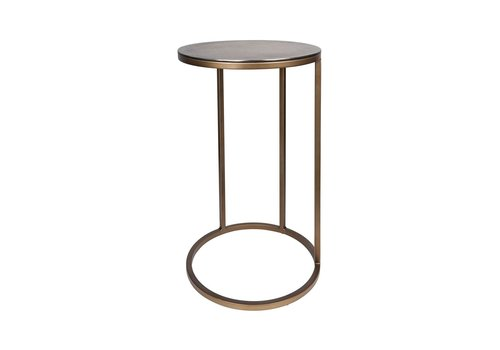 Dome Deco Round End table Blue Gold