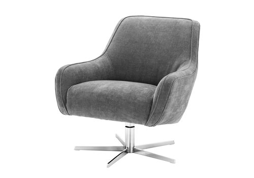 EICHHOLTZ Swivel Armchair Serena Gray