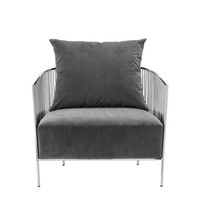 Fauteuil 'Knox'  Roestvrij staal