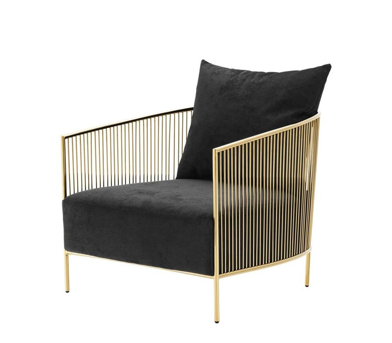 Chair Knox, Gold finish