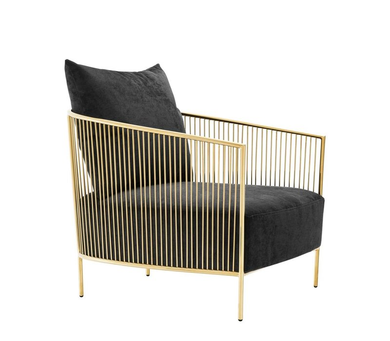 Fauteuil Knox, Gouden afwerking