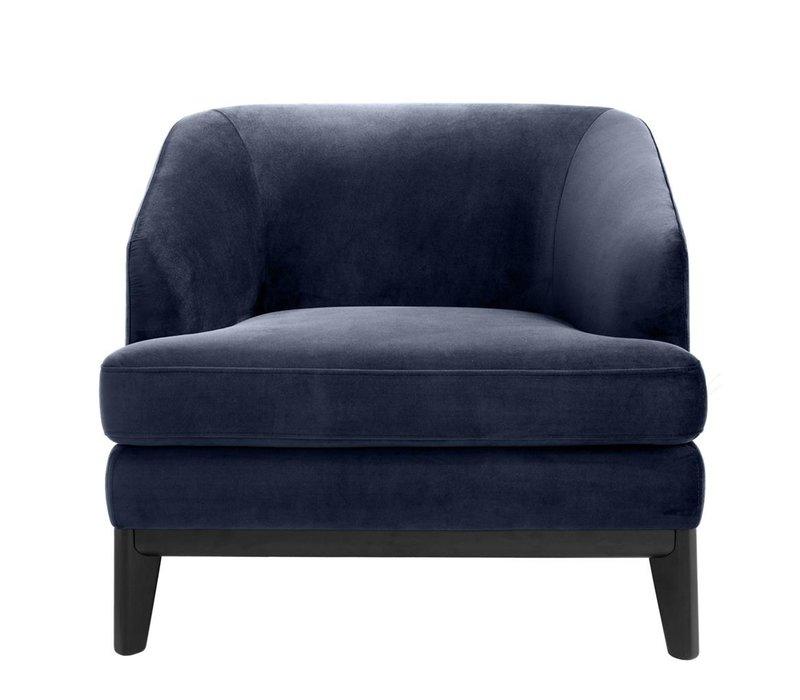 Chair Monterey, Savona midnight blue velvet