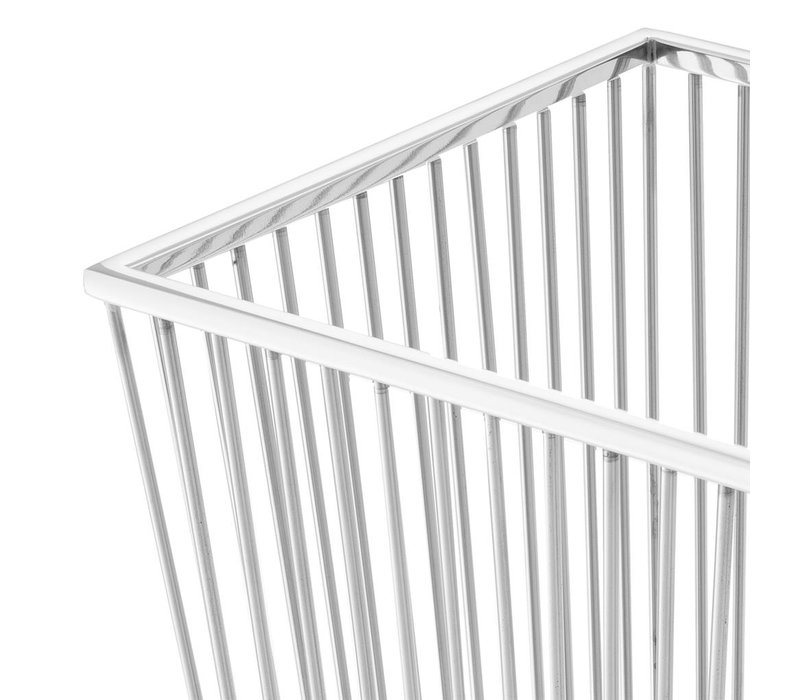 Towel Basket Hackney, Polished stainless steel