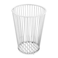 Towel Basket Baleana, Polished stainless steel