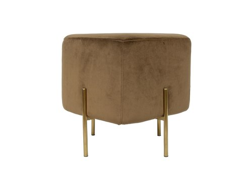 Dome Deco Elephant Square Stool 'Brown'