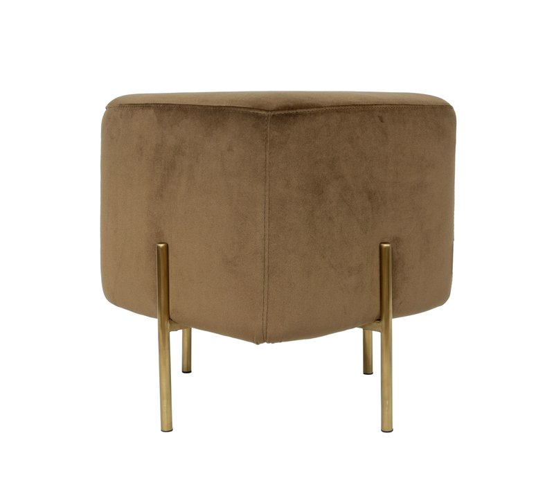 Elephant Square stool 'Brown'