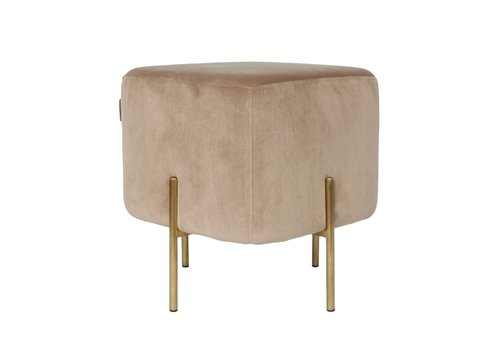 Dome Deco Elephant Square Stool 'Sand'
