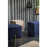 Elephant Square stool 'Blue'
