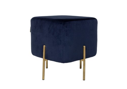 Dome Deco Elephant Square Stool 'Blue'