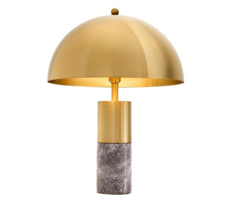 Tafellamp 'Flair' met grijs marmeren voet