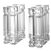 Boekensteun 'Linea' is gemaakt van kristal glas - set van 2