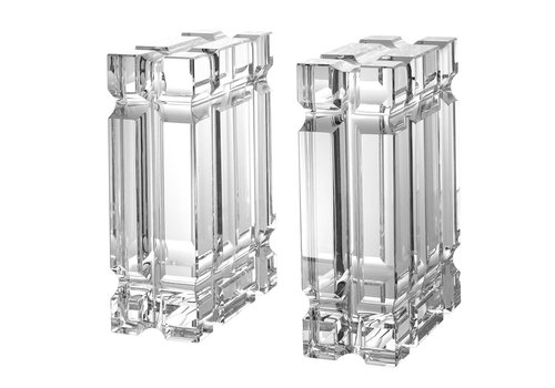 EICHHOLTZ Bookend 'Linea' Crystal glass set of 2