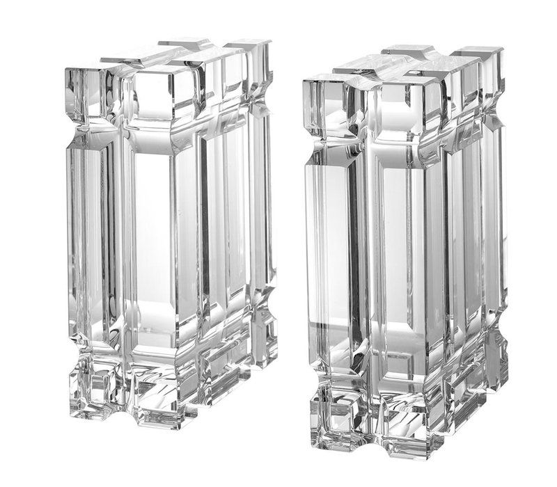 Bookend 'Linea' Crystal glass