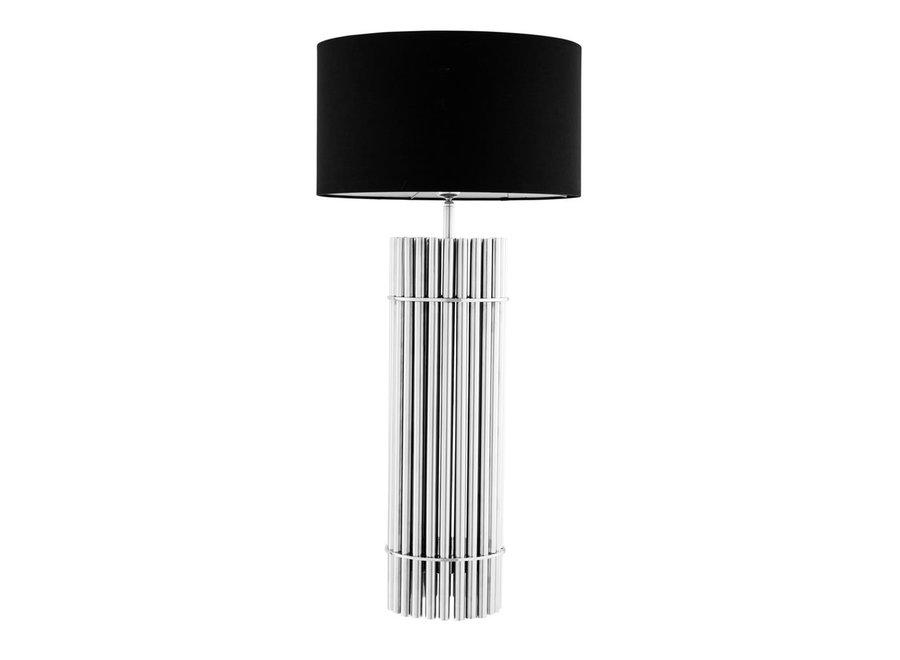 Design Tafellamp 'Reef' met zwarte kap en RVS voet