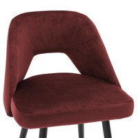 Bar Stool Avorio, Roche bordeaux velvet