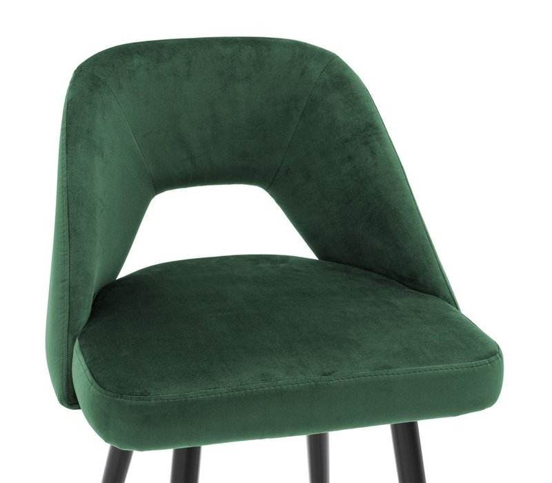 Counter Stool Avorio, Roche green velvet