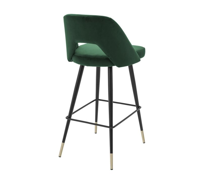 Bar Stool Avorio, Roche green velvet