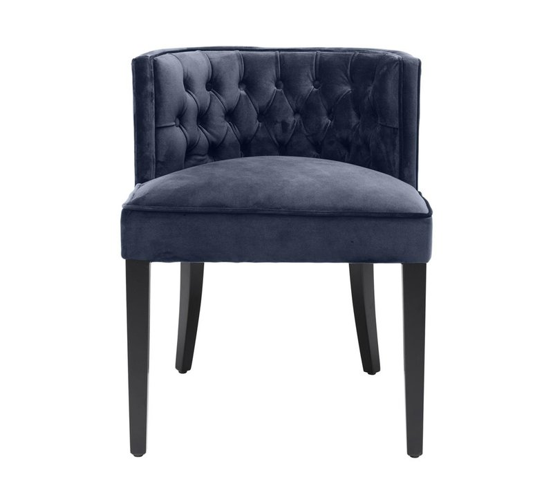 Dining Chair Dearborn, Savona midnight blue velvet