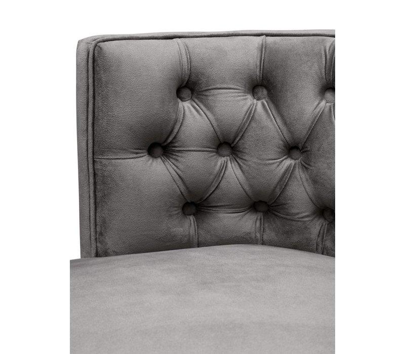 Dining Chair 'Dearborn' Roche porpoise grey velvet