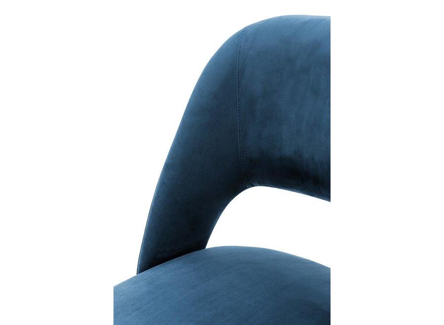Dining Chair Cipria, Roche blue velvet