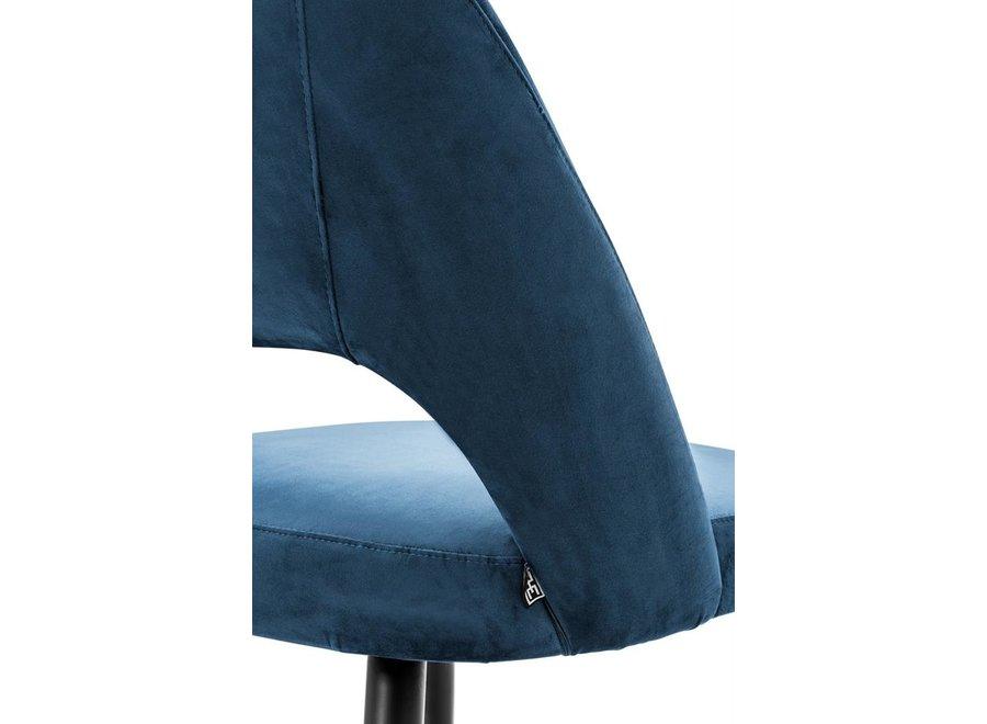 Eetstoel Cipria, Roche blauw fluweel