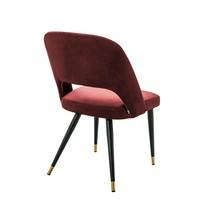 Dining Chair Cipria, Roche bordeaux velvet