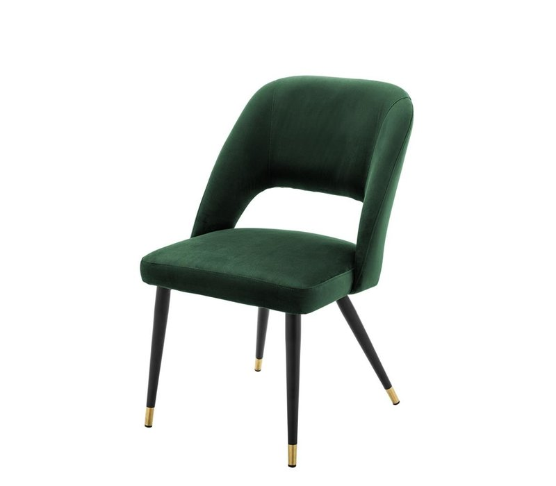 Dining Chair Cipria,  Roche green velvet