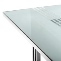 Dining Table Garibaldi, Polished stainless steel