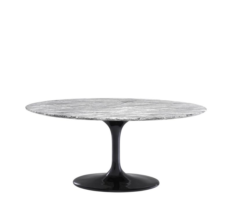 Dining Table Solo, Grey faux marble