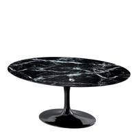 Eettafel Solo, Zwart faux marmer