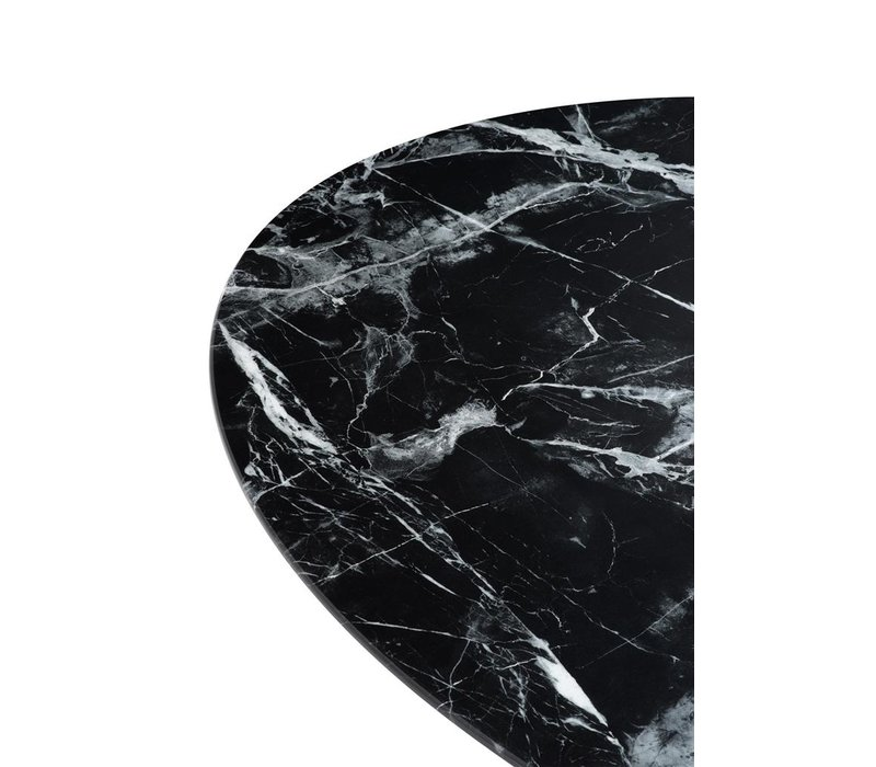 Dining Table Solo, Black faux marble