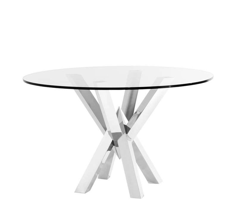 Dining Table Triumph, Polished stainless steel