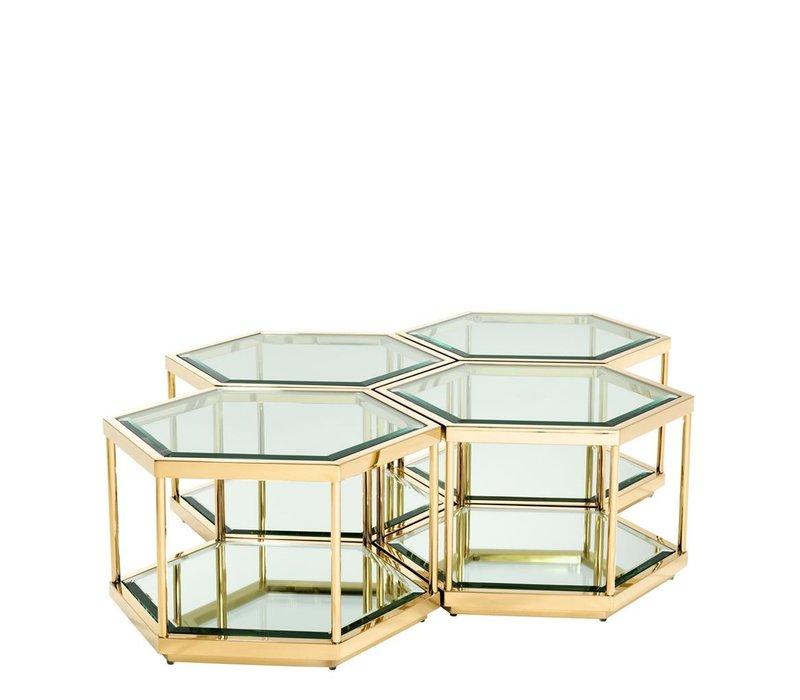 Couchtisch Sax 4er Set, gold