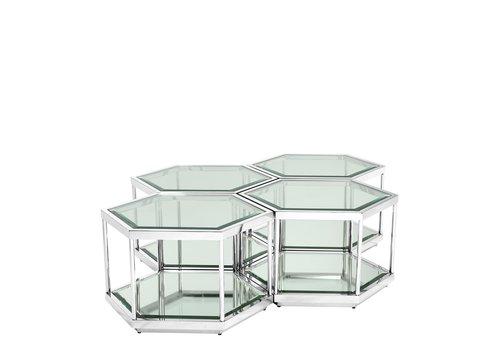 EICHHOLTZ Coffee Table Sax set of 4