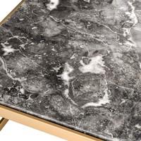 Beistelltisch 'La Quinta' aus grauem Marmor