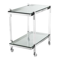 Trolley Royalton, polished stainless steel