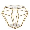 EICHHOLTZ Side Table 'Asscher' Gold